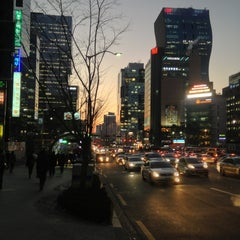 Photo taken at 강남역 (Gangnam Stn.) by Jae Woong J. on 12/18/2012