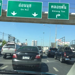 Photo taken at แยกพัฒนาการ (Phatthanakan Intersection) by bank s. on 6/30/2015