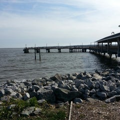 Photo taken at St. Simons Island Pier by Tiana W. on 3/9/2013