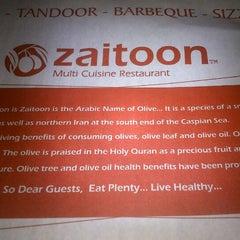Photo taken at Zaitoon Restaurant by Dev M. on 10/14/2012