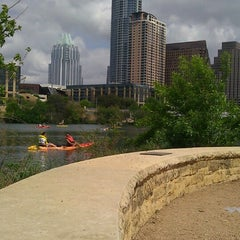 Photo taken at Lady Bird Lake by Thiana F. on 3/30/2013