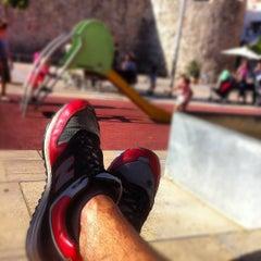 Photo taken at Plaça de la Muralla by Marcel I. on 9/14/2012