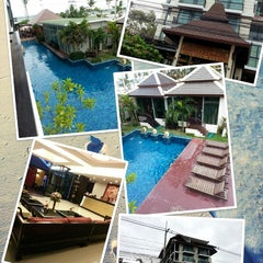 Photo taken at Royal Thai Pavilion Jomtien Boutique Resort by Phung h. on 7/22/2013