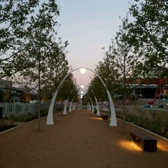 Photo taken at Klyde Warren Park by Jacqueline F. on 11/29/2012