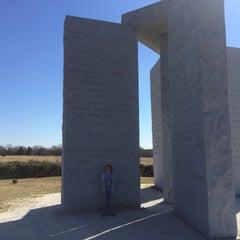 Photo taken at Georgia Guidestones by Jeremiah P. on 2/8/2015
