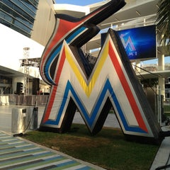 Photo taken at Marlins Park by Ronald M. on 4/13/2013