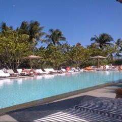 Photo taken at Hyde Beach at the SLS Hotel by Mashka on 10/30/2012