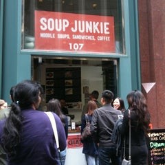 Photo taken at Soup Junkie by Jennifer W. on 11/7/2012