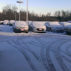 Photo taken at Antwerpen Hyundai by Joe S. on 1/29/2014