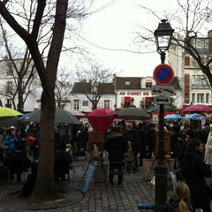 Photo taken at Place du Tertre by Frank H. on 1/2/2013