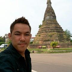 Photo taken at That Dam Stupa by Louis A. on 5/4/2014