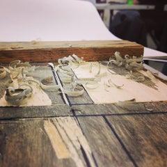 Photo taken at Woods Art Building - Printmaking Studio by Crystal Z. on 1/18/2013