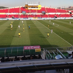 Photo taken at 광양축구전용구장 (Gwangyang Football Stadium) by WS L. on 11/22/2014
