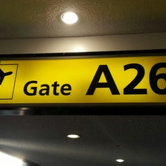 Photo taken at Gate A26 by Banana m. on 2/19/2013