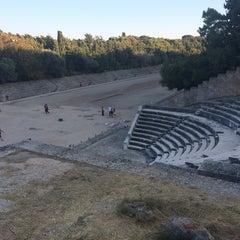 Photo taken at Αρχαίο Στάδιο (Ancient Stadium) by Alexey P. on 9/30/2014