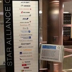 Photo taken at Star Alliance Lounge by Dmitri K. on 3/13/2012