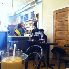 Photo taken at Cafe Madeline by Kotaro H. on 5/1/2012