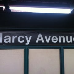 Photo taken at MTA Subway - Marcy Ave (J/M/Z) by akiyuki on 5/10/2012