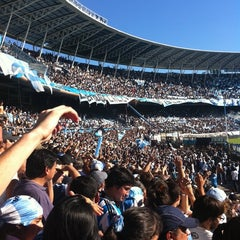 Photo taken at Estadio Juan Domingo Perón (Racing Club) by Martin E. on 4/16/2011