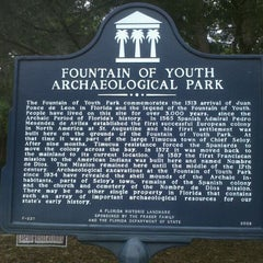 Photo taken at The Fountain Of Youth Archaeological Park by Mark T. on 4/6/2012