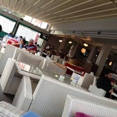 Photo taken at Yalı Cafe & Restaurant by Cihan M. on 4/21/2012