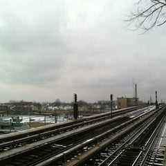 Photo taken at MTA Subway - Rockaway Blvd (A) by Michael H. on 2/3/2013