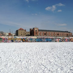 Photo taken at East Side Gallery by Wouter B. on 3/25/2013