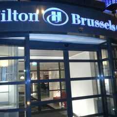 Photo taken at Hilton Brussels City by Hossam A. on 12/10/2012