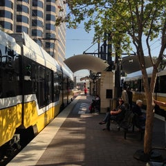 Photo taken at Pearl/Arts District Station (DART Rail) by Richard A. on 10/1/2012