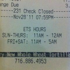 Photo taken at Elmwood Taco & Subs by Jim M. on 11/29/2011