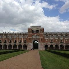 Photo taken at Lovett Hall (Rice University) by Cayla C. on 4/21/2013