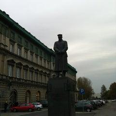 Photo taken at Pomnik Marszałka Piłsudskiego / Piłsudski Monument by Dr. O. on 11/2/2012