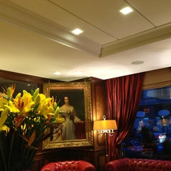 Photo taken at Hotel Bristol Geneva by Fyodor on 3/9/2013