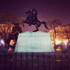 Photo taken at Andrew Jackson Statue by Clayton T. on 3/6/2014