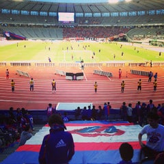 Photo taken at 味の素スタジアム (AJINOMOTO STADIUM) by dorista T. on 5/18/2013