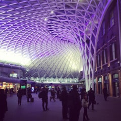 Photo taken at London King's Cross Railway Station (KGX) by Jon B. on 1/23/2013