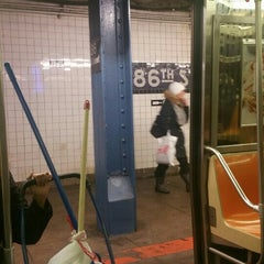 Photo taken at MTA Subway - 86th St (B/C) by Gregory C. on 1/23/2016