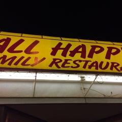 Photo taken at All Happy Family Restaurant by Brent L. on 3/13/2014
