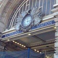 Photo taken at London Waterloo Railway Station (QQW) by devo on 7/19/2013