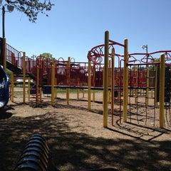 Photo taken at Westfield Municipal Spray Park by Meghan B. on 5/6/2013