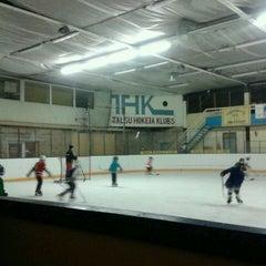 Photo taken at Talsu hokeja klubs (Talsi Ice Hockey club) by Elza Anna G. on 12/3/2013