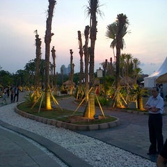 Photo taken at Ancol Beach by Feby L. on 10/26/2012