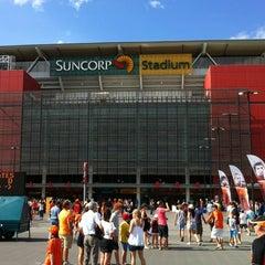Photo taken at Suncorp Stadium by Adam P. on 1/20/2013