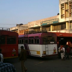 Photo taken at Satara Bus Stand by Ameya K. on 11/19/2012