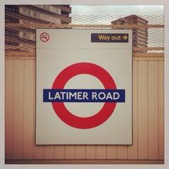 Photo taken at Latimer Road London Underground Station by Demsi on 10/10/2013