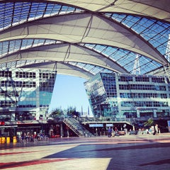 "Photo taken at München Flughafen ""Franz Josef Strauß"" (MUC) by Тинуля Ф. on 9/4/2013"