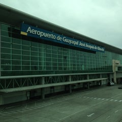 Photo taken at Aeropuerto Internacional José Joaquín de Olmedo (GYE) by Daniel M. on 1/2/2013