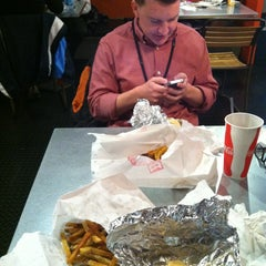 Photo taken at Southern Burger Company @ Warehouse Row by Mary H. on 2/13/2013