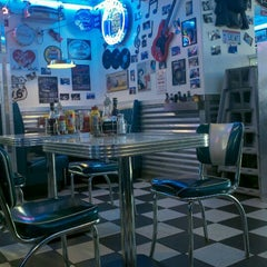 Photo taken at Hot Rods 50's Diner Inc by Julie W. on 1/4/2013