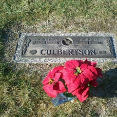 Photo taken at Greenview Memorial Cemetery by Constance R. on 11/24/2012